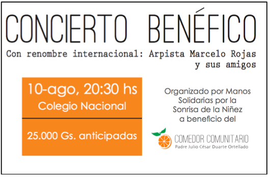 Benefit Concert Advertisement Poster with Border