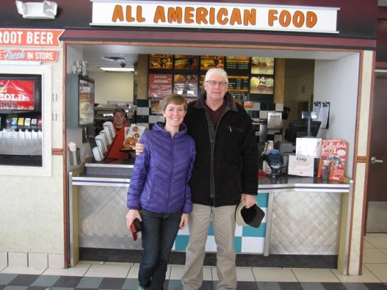 USA Trip - Allison, Dad at A&Ws